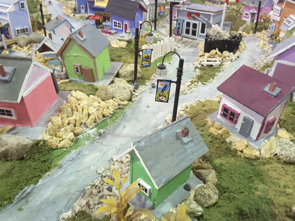 Gibsons Train Set created by E.A. Evans
