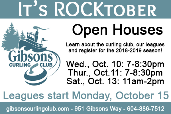 Rock-tober Gibsons Curling Club Open Houses
